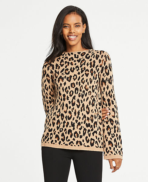 Petite Spotted Mock Neck Sweater