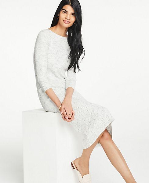 886f12c501b9 Ribbed Knit Sweater Dress | Ann Taylor