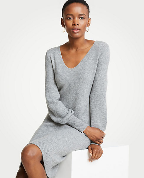 Petite Blouson Sleeve Sweater Dress