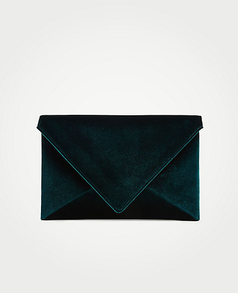 Velvet Envelope Clutch by Ann Taylor