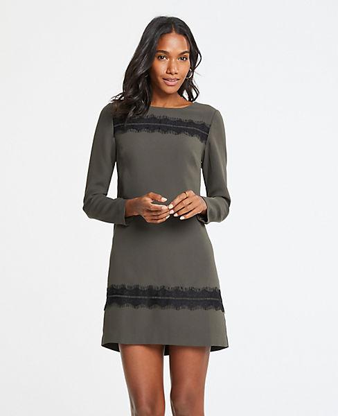 Petite Lace Trim Shift Dress