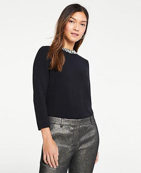 Petite Necklace Sweater