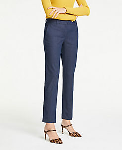 8293eb325f The Ankle Pant In Faux Denim