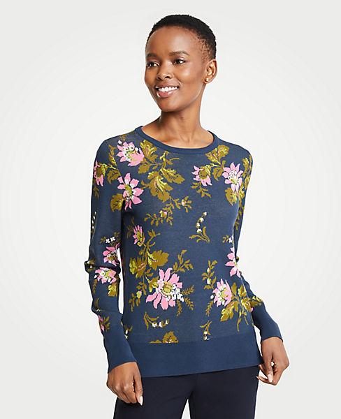 Petite Floral Jacquard Sweater