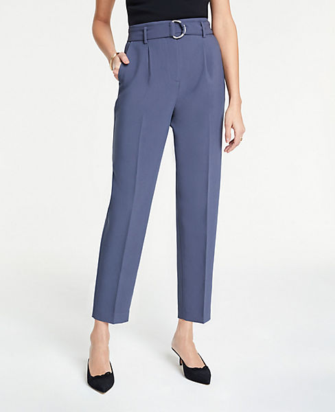 63be60cc09 Belted Pleated Ankle Pants | Ann Taylor
