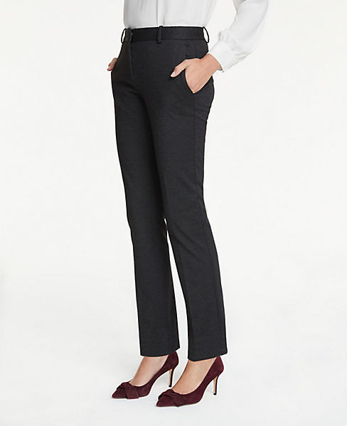 The Petite Straight Leg Pant In Pindot - Classic Fit
