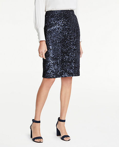 Petite Sequin Pencil Skirt