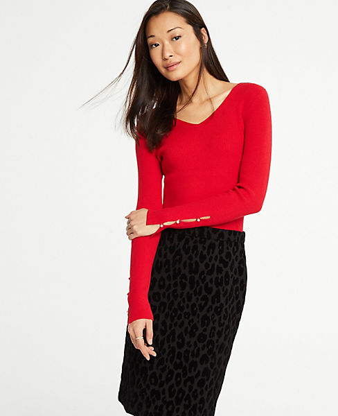 dab7dc54e7c5 Pearlized Cuff Sweater