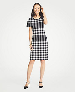 5f2d554d403c Gingham Sweater Dress