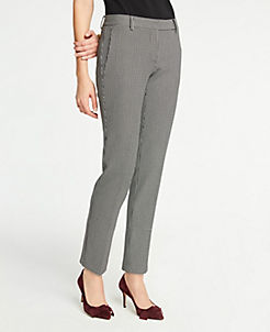 The Ankle Pant In Plaid Curvy Fit