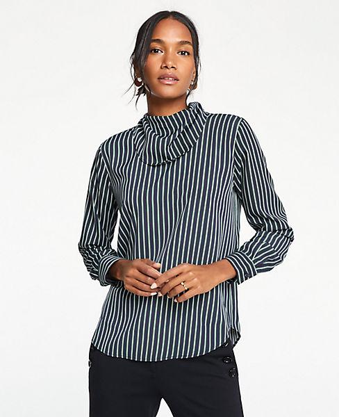 Petite Striped Handkerchief Blouse