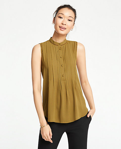 Petite Geo Lacy Pleated Shell