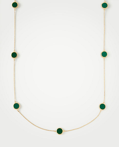 Circle Disc Station Necklace by Ann Taylor