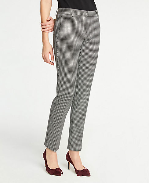 The Petite Ankle Pant In Plaid - Curvy Fit