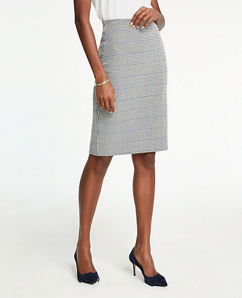 Petite Plaid Pencil Skirt