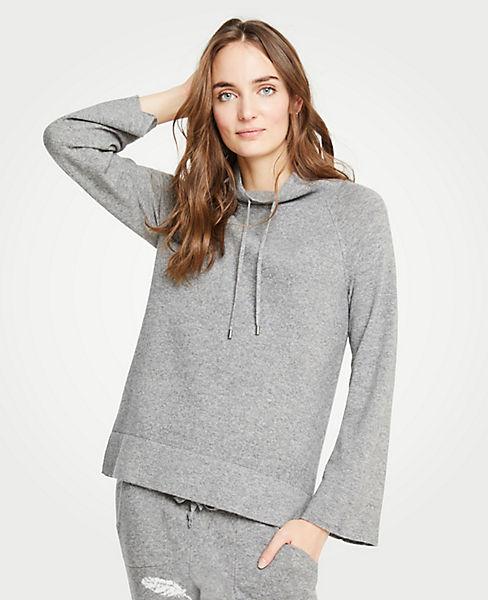 Petite Drawstring Neck Sweater