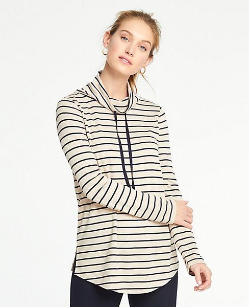 Petite Drawstring Neck Sweatshirt