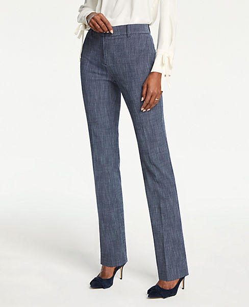 The Petite Straight Leg Pant In Crosshatch