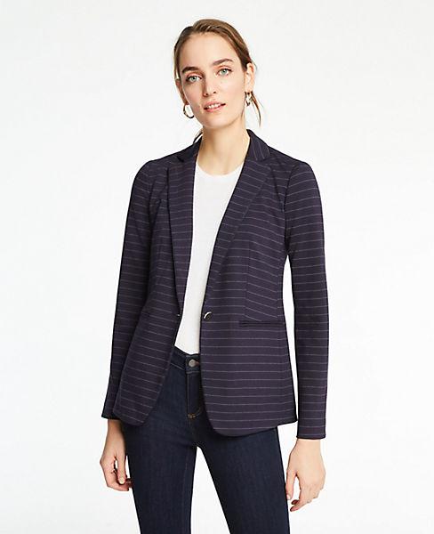 The Petite Striped Knit Blazer