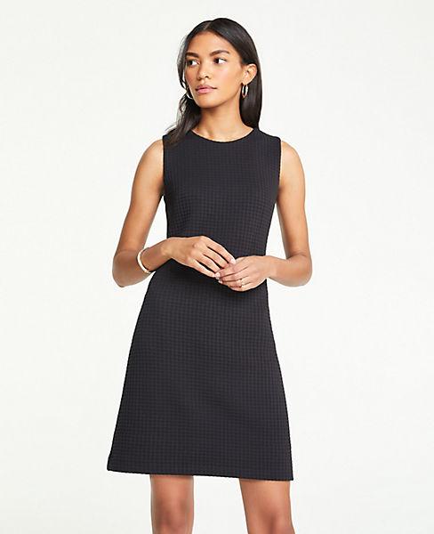 Petite Waffle Textured Knit Shift Dress