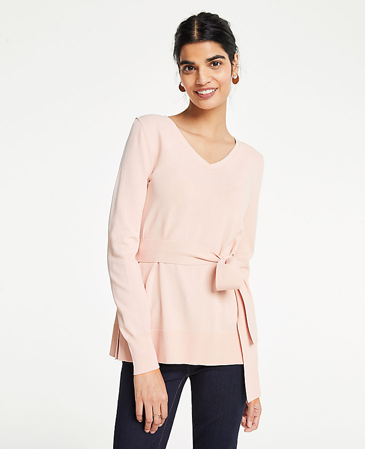 100bd50d3b8 Belted Tunic Sweater | Ann Taylor