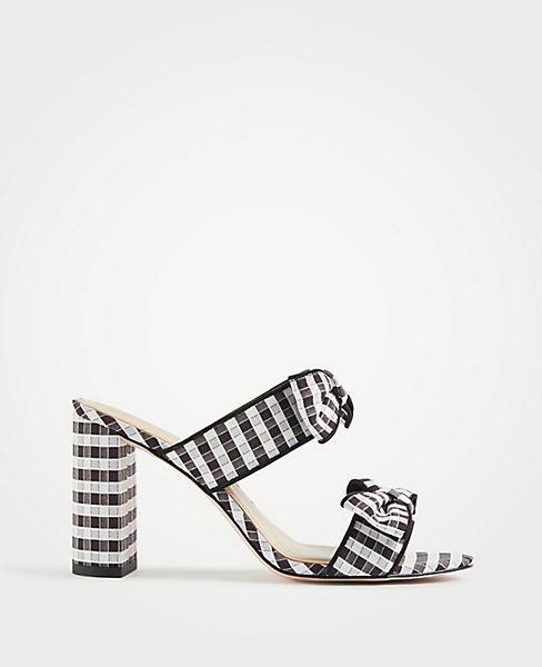 Janie Gingham Heeled Sandals by Ann Taylor