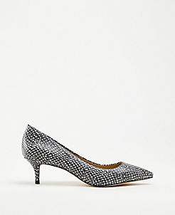07e5634992 Reese Snake Print Leather Pumps