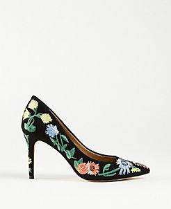 74f3a98af52 Kit Garden Embroidered Suede Pumps