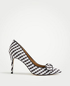 0a2ac0db5540 Kit Gingham Soft Bow Pumps