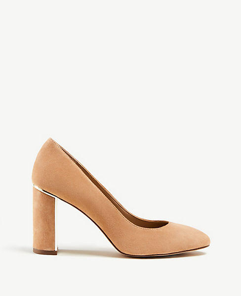 Kaia Suede Block Heels by Ann Taylor
