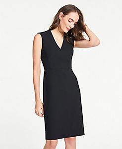 5f383988533 The V-Neck Sheath Dress in Bi-Stretch