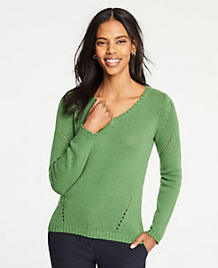 5ffd1ba695c Yellow & Green Petite Sweaters for Women | ANN TAYLOR