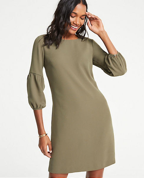 Petite Lantern Sleeve Shift Dress