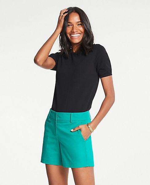 Petite Cotton Mid Shorts