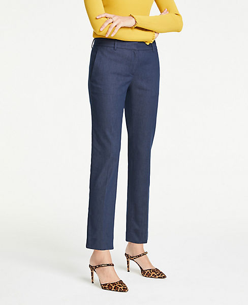 The Petite Ankle Pant In Faux Denim