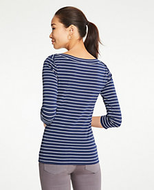 0145ce7f13 Image 2 of 2 - Striped Boatneck Luxe Tee