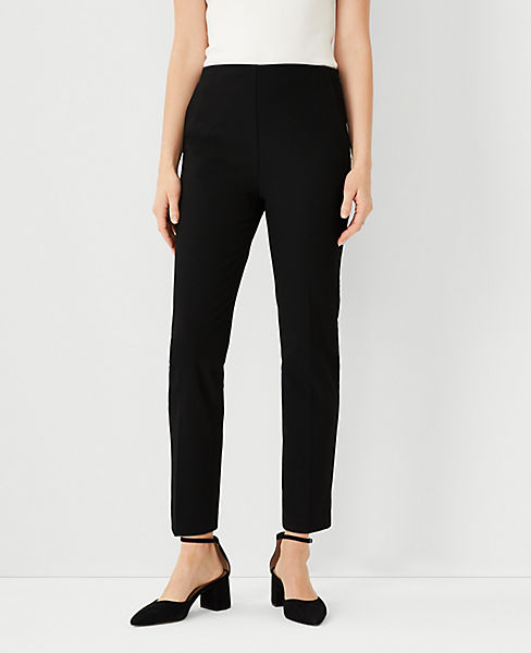 The Petite Side-Zip Ankle Pant in Bi-Stretch