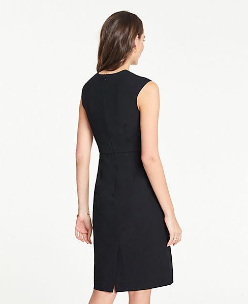a01442f7 ... The Petite V-Neck Sheath Dress in Bi-Stretch. previous image next image