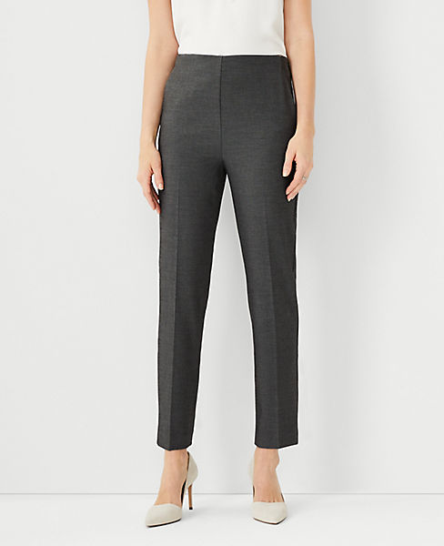 Petite Bi-Stretch Side Zip Ankle Pants