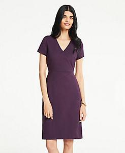 Purple Stylish Petite Dresses  Wrap   Sweater Dresses  dd81a570e