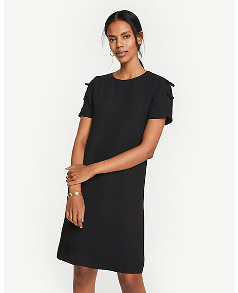 Petite Bow Sleeve T-Shirt Shift Dress