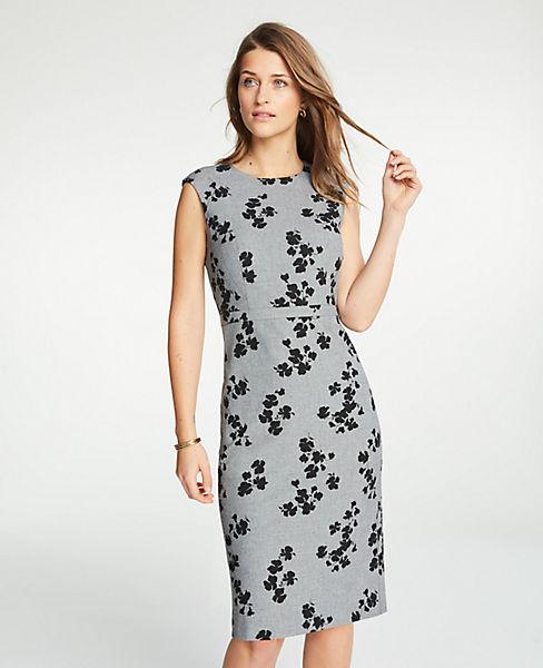 Petite Floral Cap Sleeve Sheath Dress