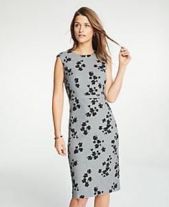 ecb0101082c Tall Floral Cap Sleeve Sheath Dress