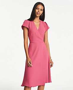 c0ffa89f65e6 Pink & Yellow Stylish Petite Dresses: Wrap & Sweater Dresses | ANN ...