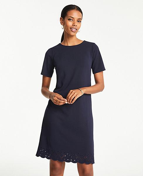 Petite Eyelet Hem T-Shirt Dress