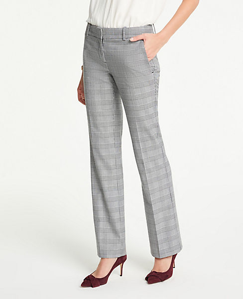 The Petite Trouser In Glen Plaid