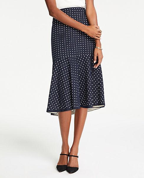 Petite Eyelet Flounce Midi Skirt