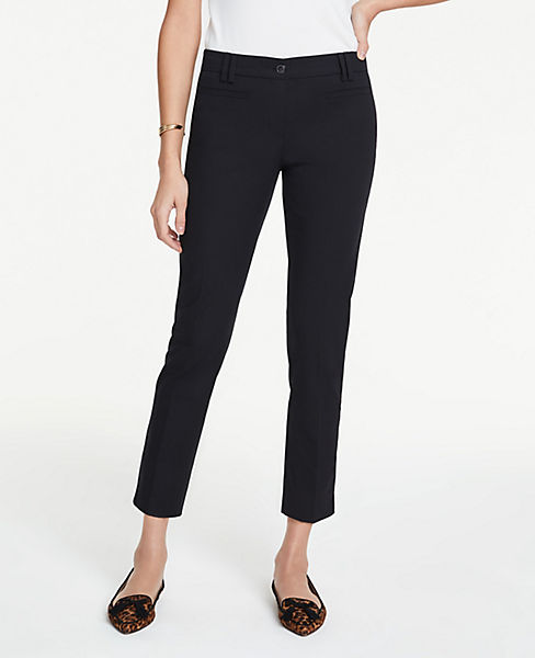 654bf541cd The Tall Cotton Crop Pant | Ann Taylor