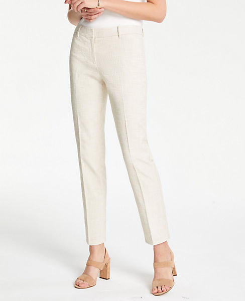 The Petite Ankle Pant In Textured Tweed