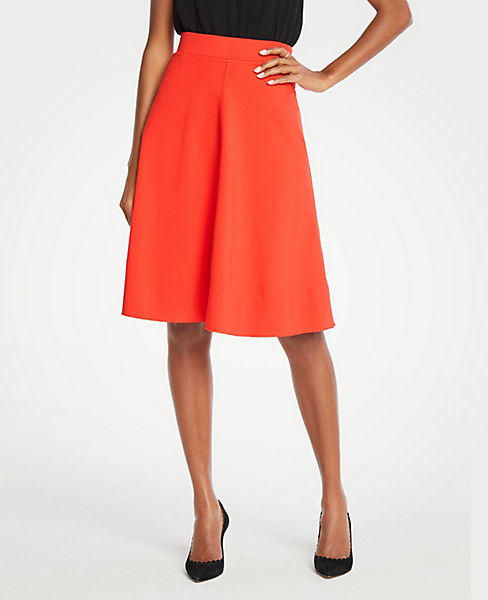 c632c5b47a Seamed Ponte Full Skirt | Ann Taylor